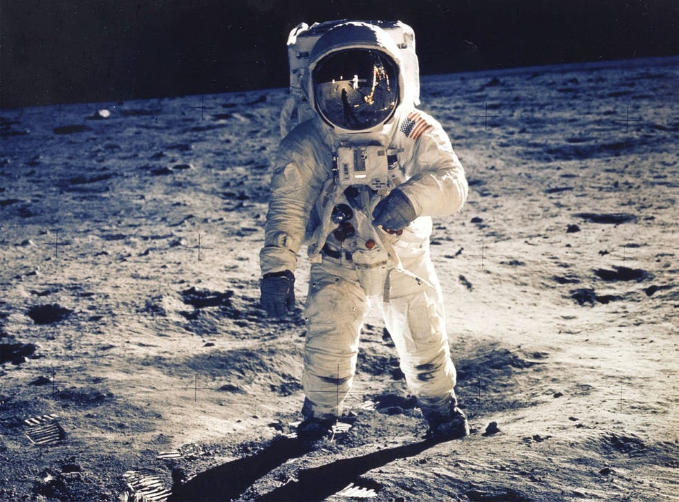 Astronaut Edwin E. Aldrin Jr., is seen on the surface of the moon near the Apollo 11 lander  in 1969. Seeding plants on the lunar surface could be the first step towards establishing more permanent colonies.