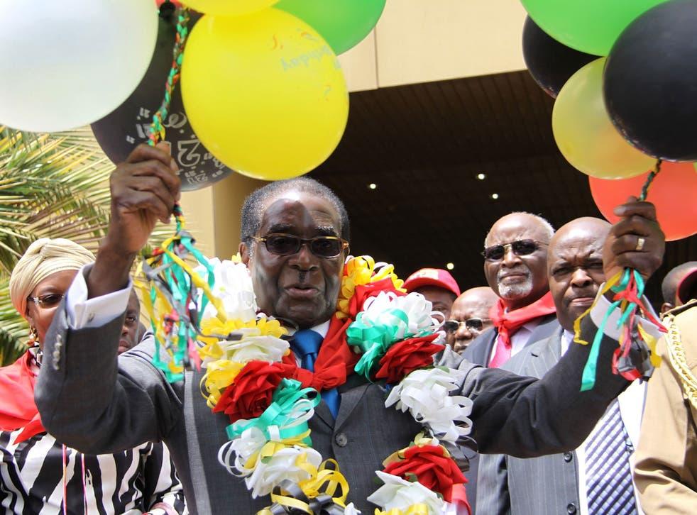 Robert Mugabe celebrating his birthday in Harare