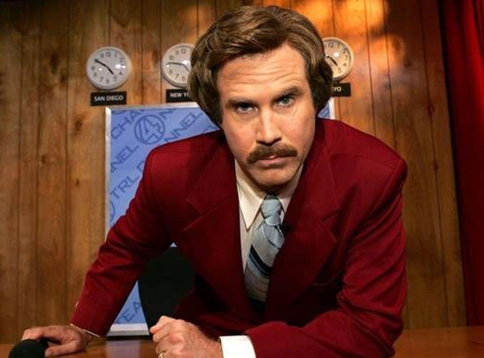Smooth operator: Will Ferrell as San Diego newsman Ron Burgundy