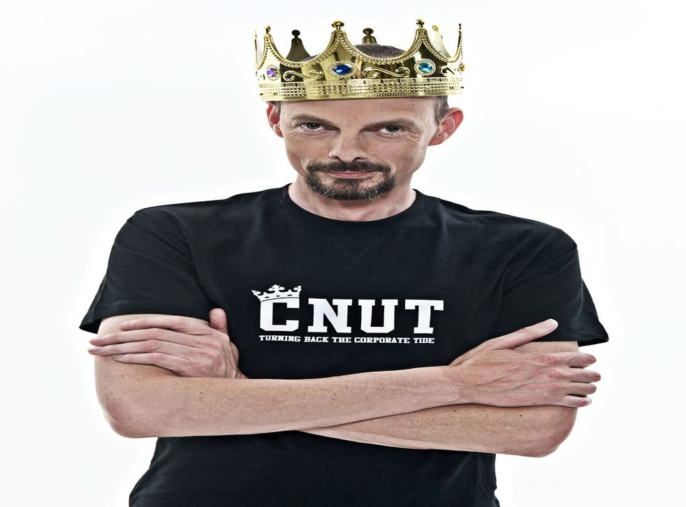 Comedian Dave Griffiths, the self-styled 'King Cnut'