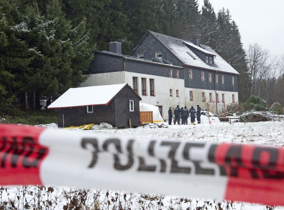 Police search for body parts at the suspect's house near Reichenau in Germany