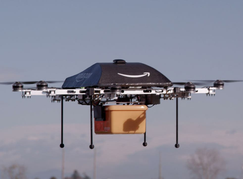 Amazon's 'octocopter' were due to be making deliveries by 2015