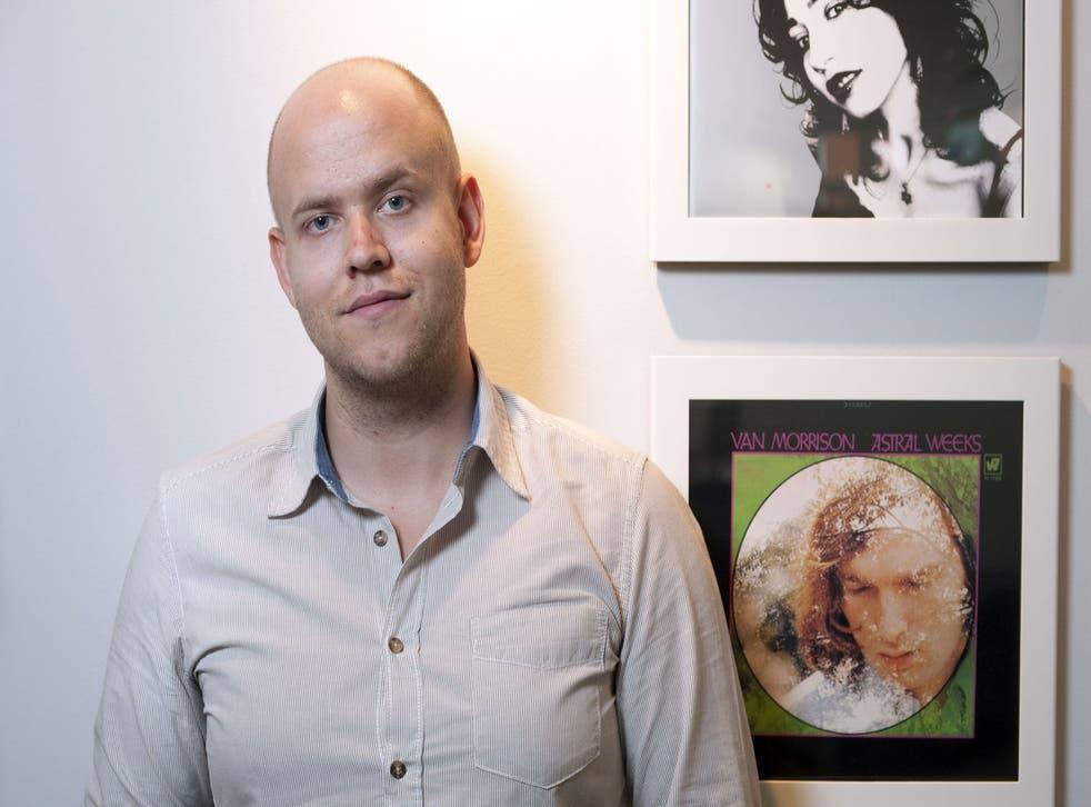 Daniel Ek of Spotify in his office in central London, Britain.