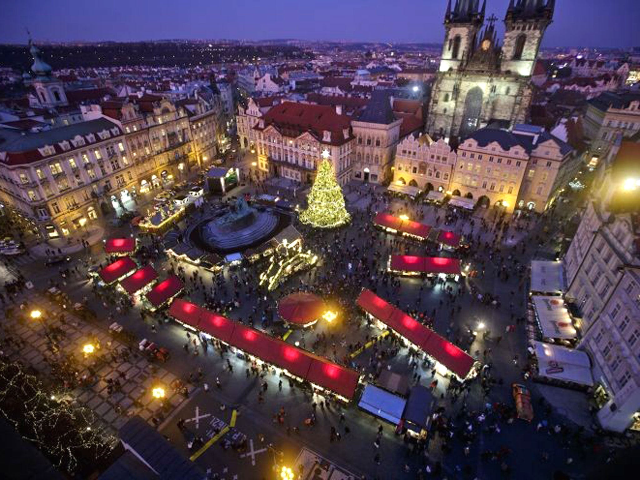in pictures christmas markets open in prague the independent