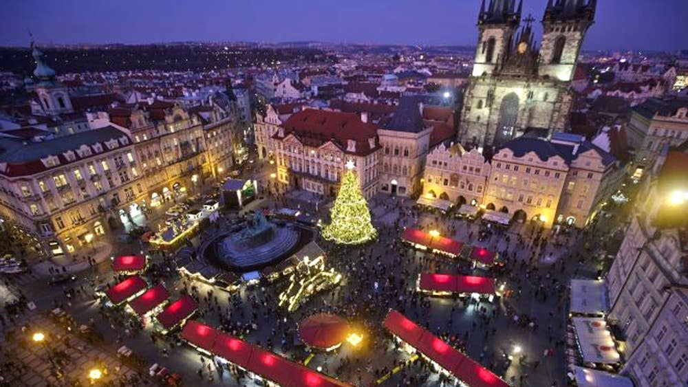 Prague Christmas Market.In Pictures Christmas Markets Open In Prague The Independent
