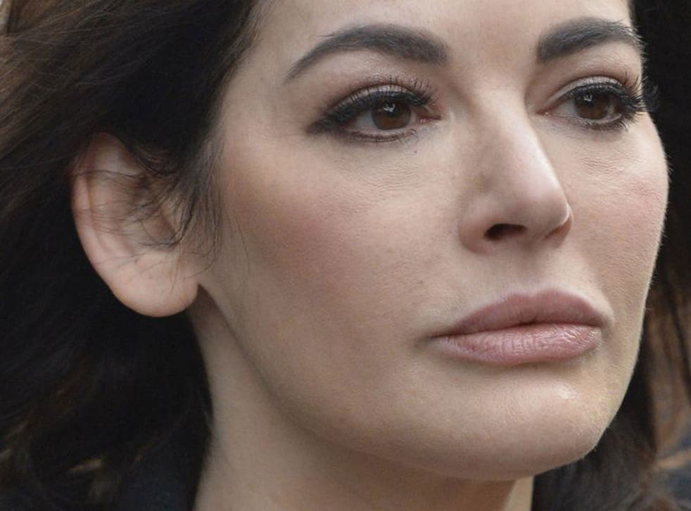 Celebrity chef Nigella Lawson arrives at Isleworth Crown Court in west London