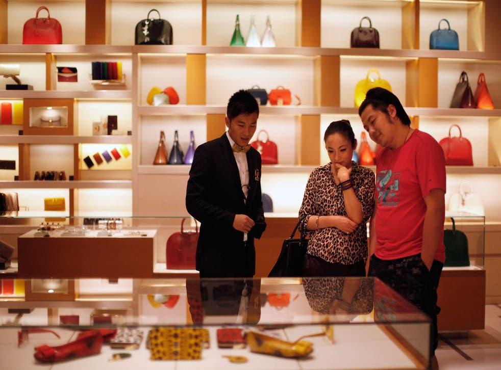Super privilege: Louis Vuitton store in downtown Shanghai