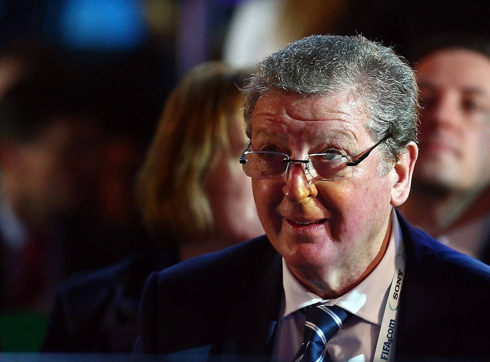 Roy Hodgson at the World Cup draw
