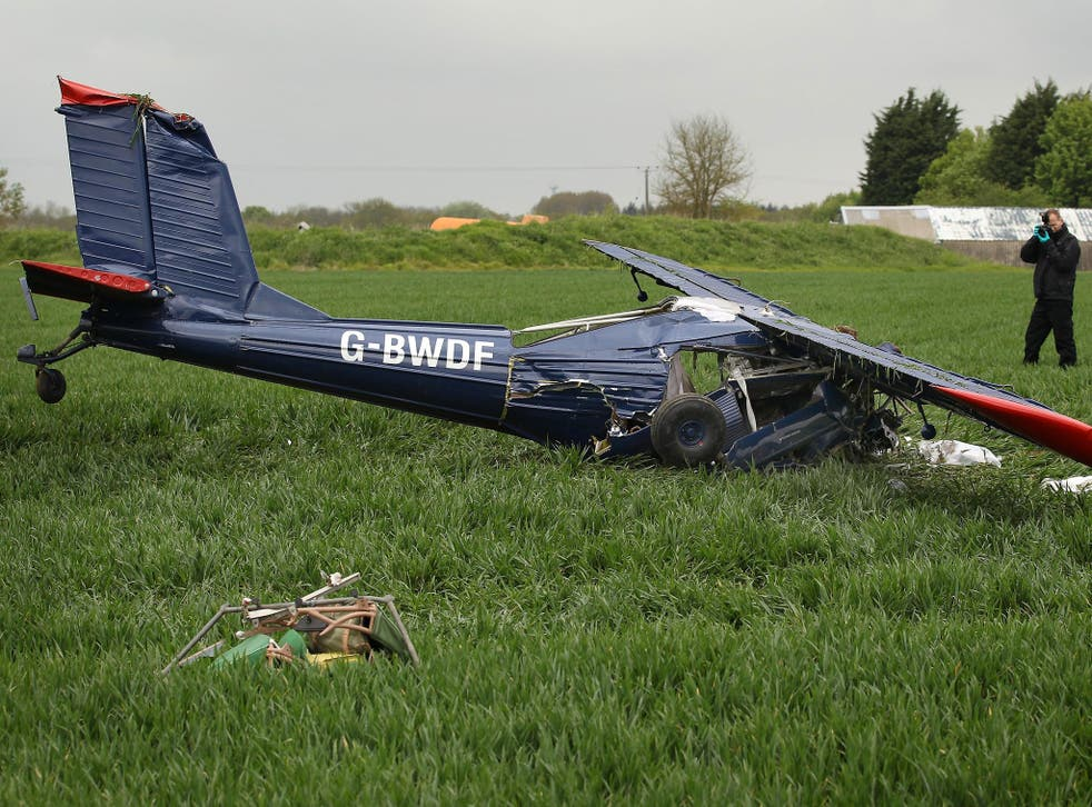 The aircraft was carrying Nigel Farage and towing a banner when it crashed