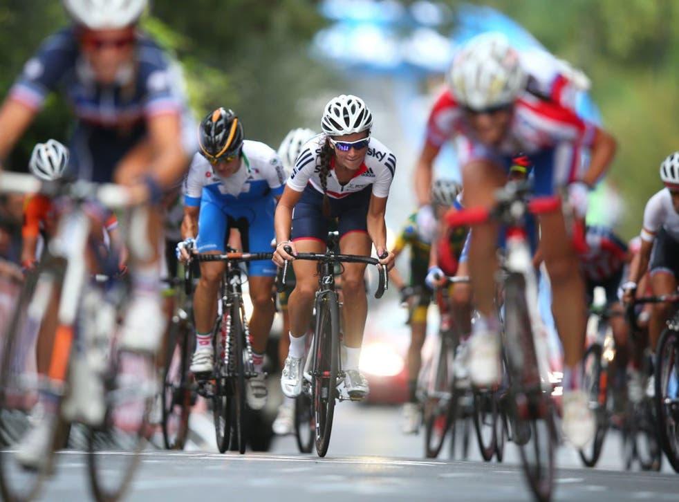 Pedal power: British cyclist Elizabeth Armitstead