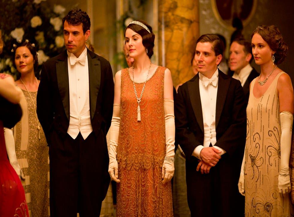 Lady Mary with her admirer Lord Gillingham in the Downton Abbey Christmas special 2013