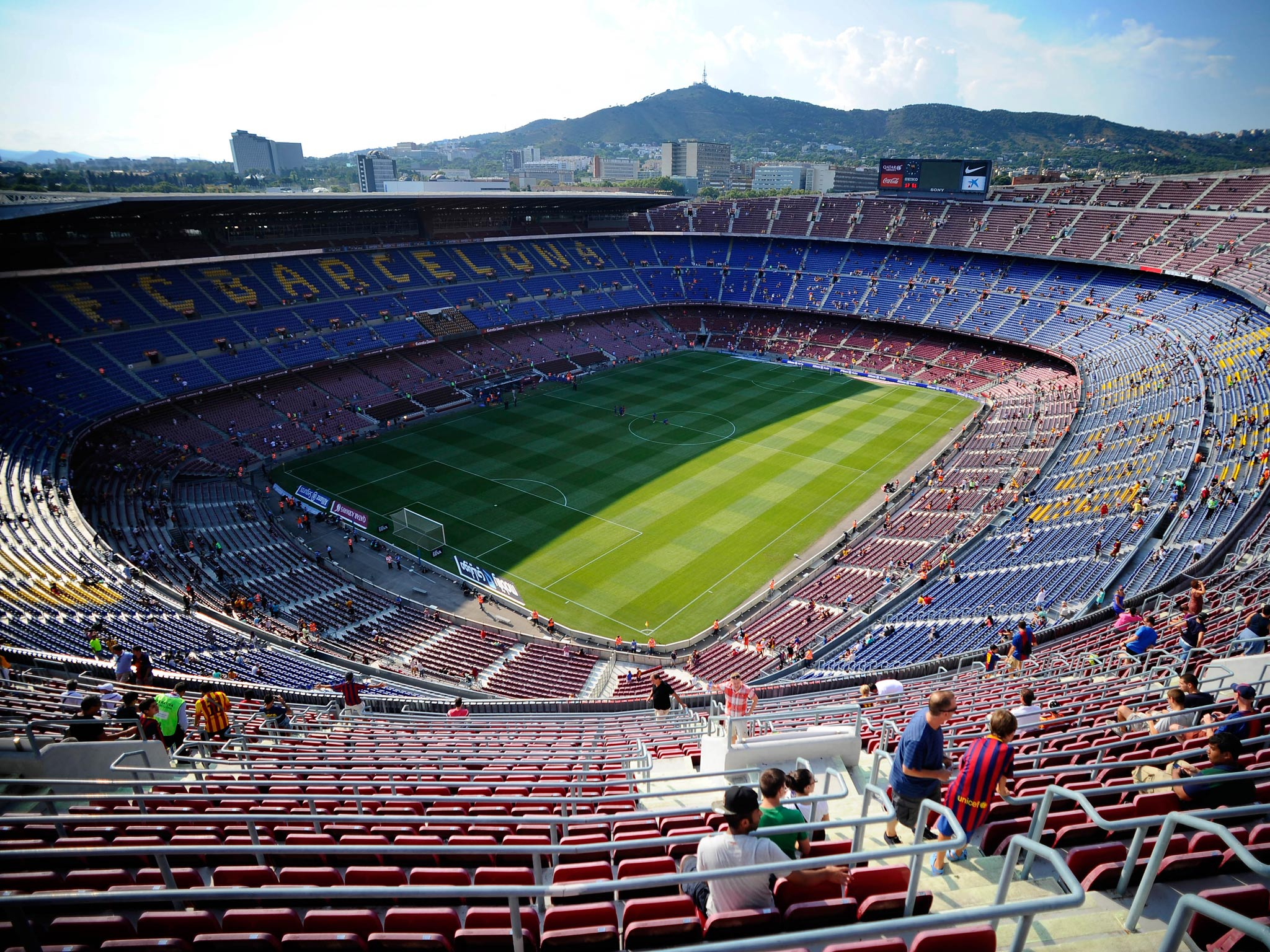 ashes to alves barcelona reveal plans to bury 30 000 fans under the nou camp the independent the independent bury 30 000 fans under the nou camp