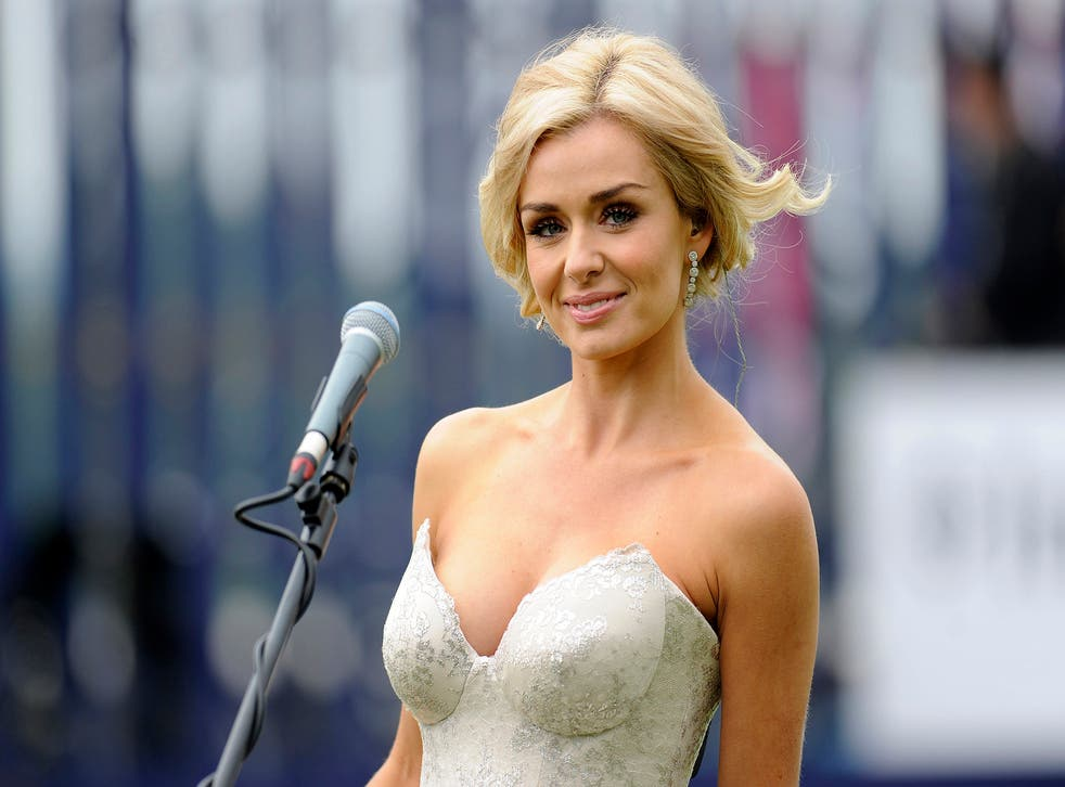 Katherine Jenkins performs at Epsom in June 2012