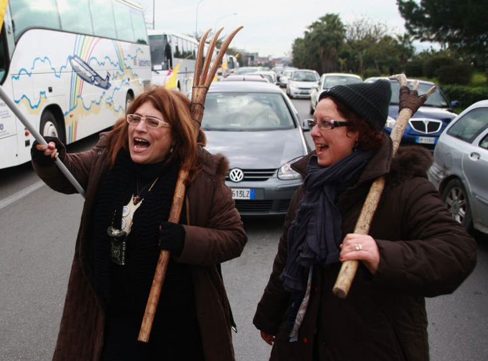 Italy has been crippled by a series of strikes as part of the so-called Pitchfork Movement