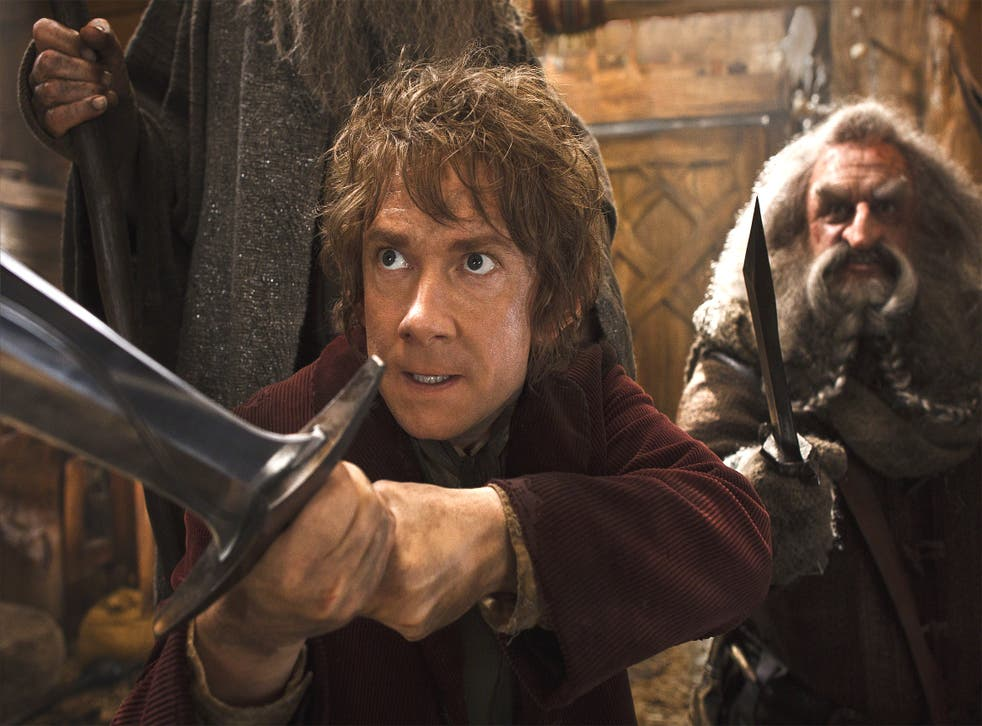 Martin Freeman as Bilbo Baggins in a scene from 'The Hobbit: The Desolation of Smaug'