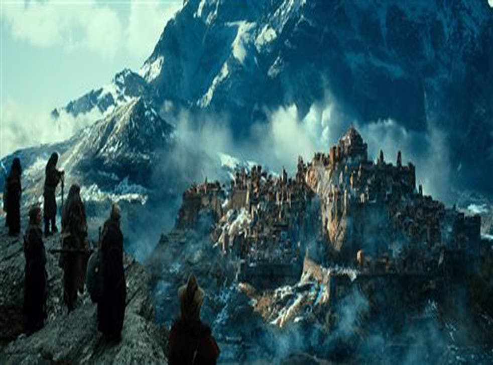 A scene from Peter Jackson's The Hobbit: The Desolation of Smaug