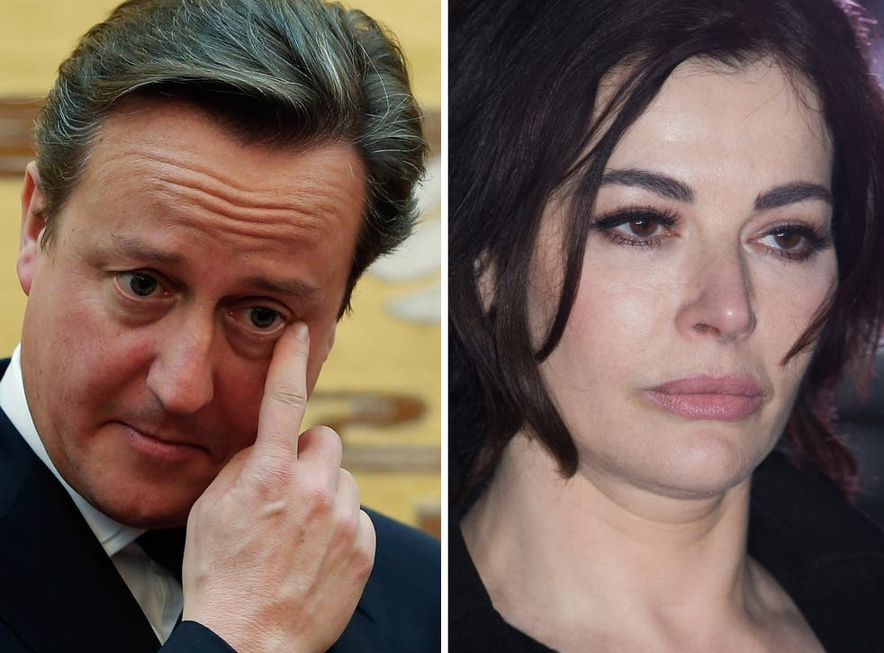 Jurors have been warned to ignore David Cameron's comments about Nigella Lawson