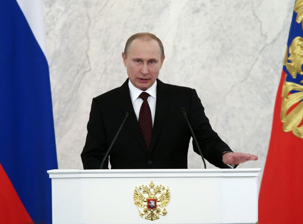 Mr Putin made a thinly-veiled attack on the West's more liberal attitudes toward gay rights