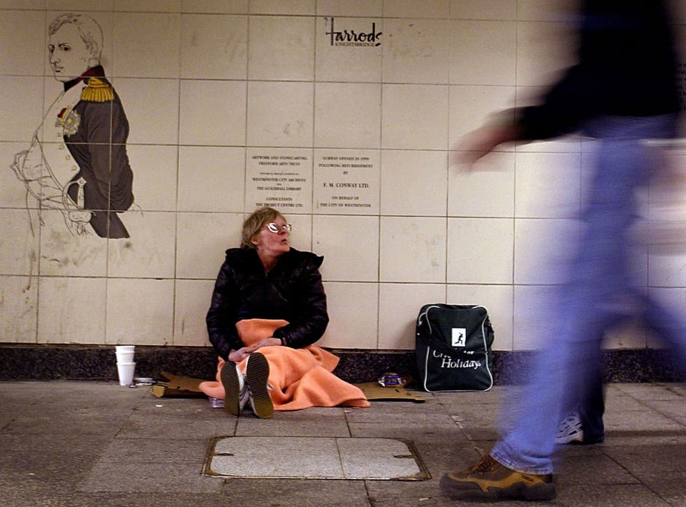 The number of people sleeping rough in London has risen by 13 per cent in the last year