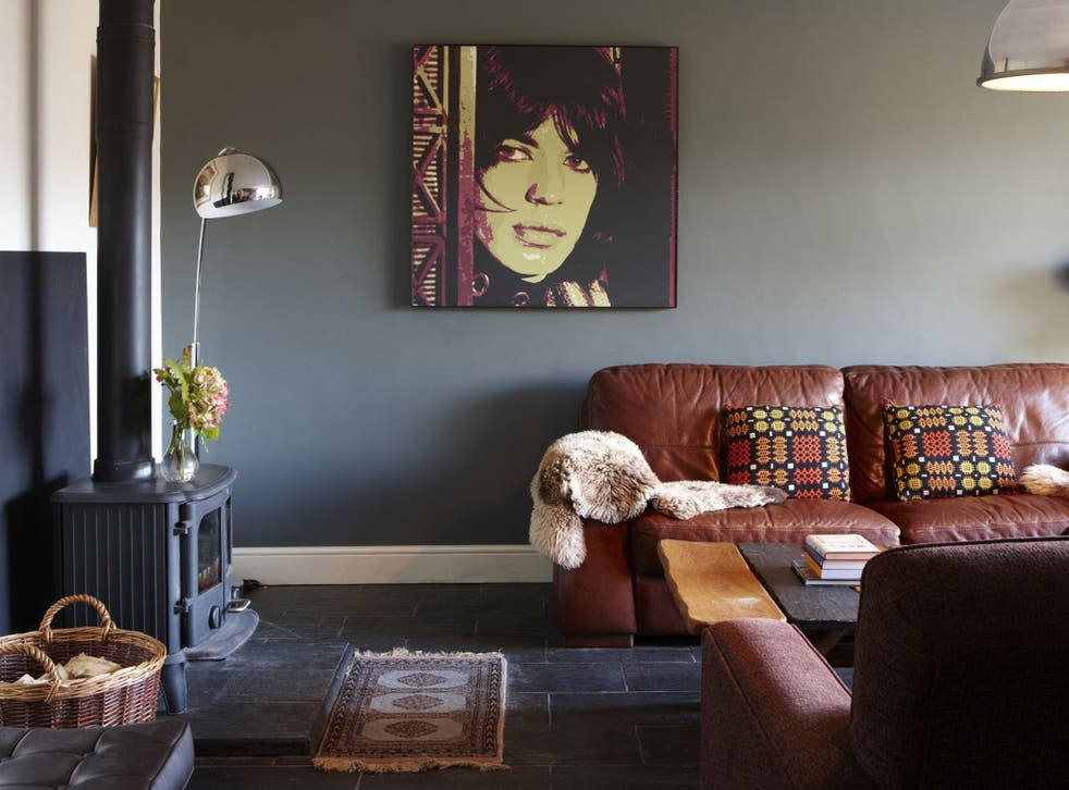 Rock star: Rooms in The Slate Shed follow a musical theme