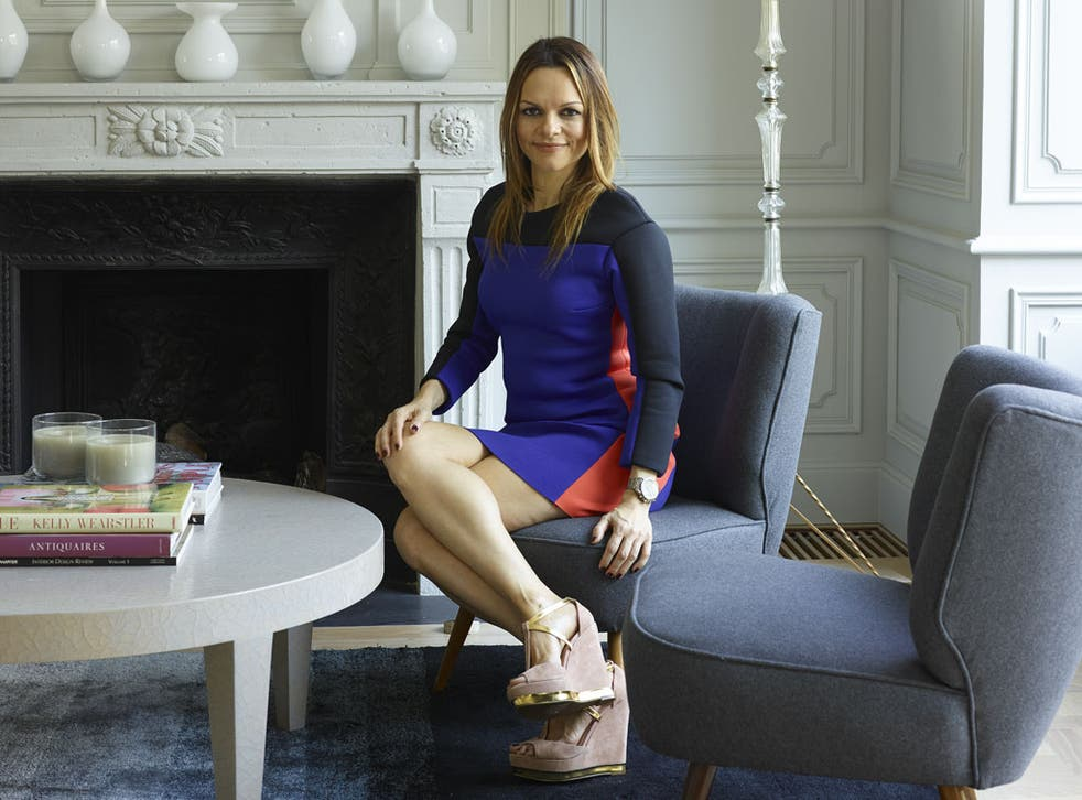 Maria Hatzistefanis in her living-room; the chairs were bought online from a vintage shop in Germany