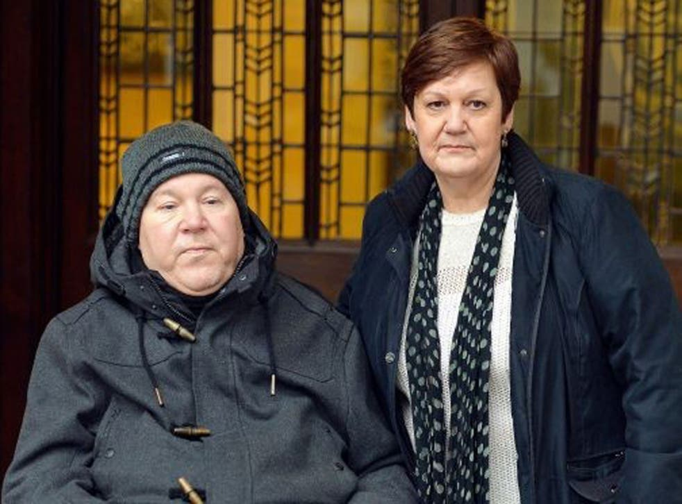 Paul Lamb and Jane Nicklinson at the Supreme Court in December