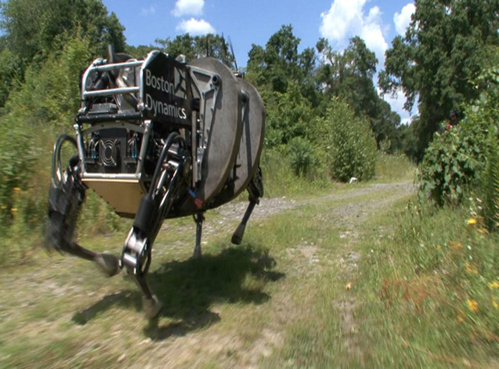 One of the many types of Boston Dynamic robot bought by Google in 2013.