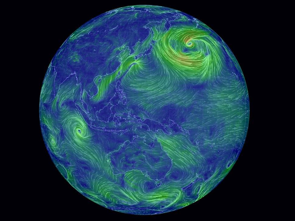 Interactive watch the worlds winds swirl across the globe in real interactive watch the worlds winds swirl across the globe in real time gumiabroncs Choice Image