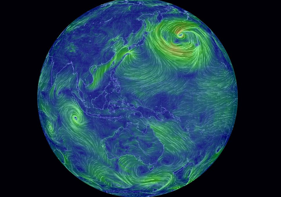 Interactive Watch The World S Winds Swirl Across The Globe In Real
