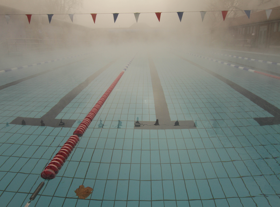 The swimming pool was evacuated (file photo)
