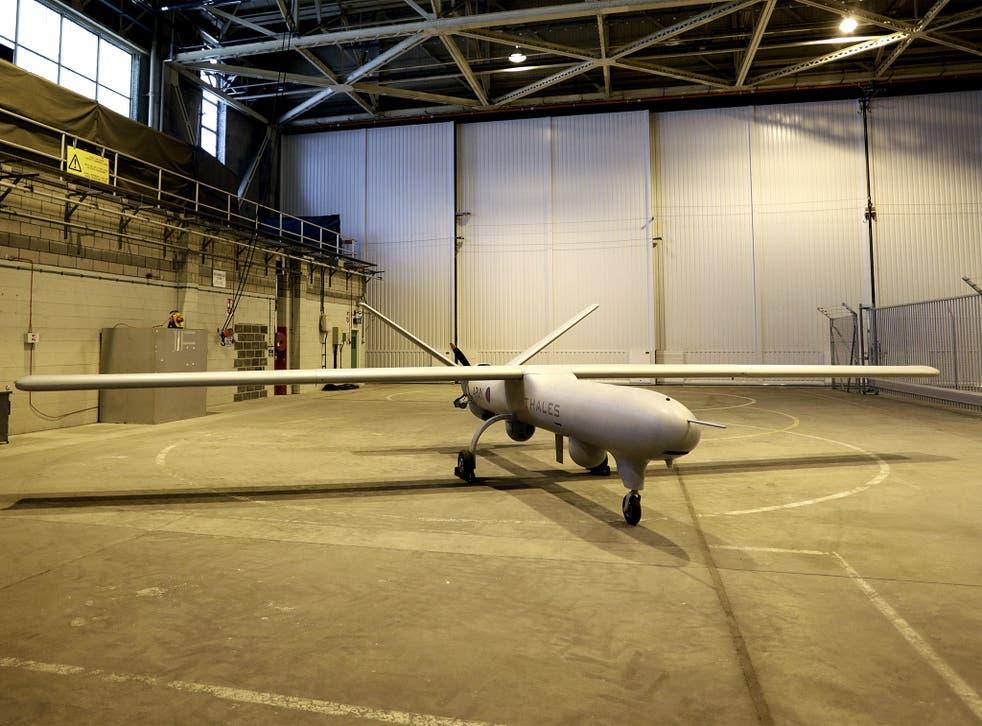 The Watchkeeper drone on display at RA F Waddington