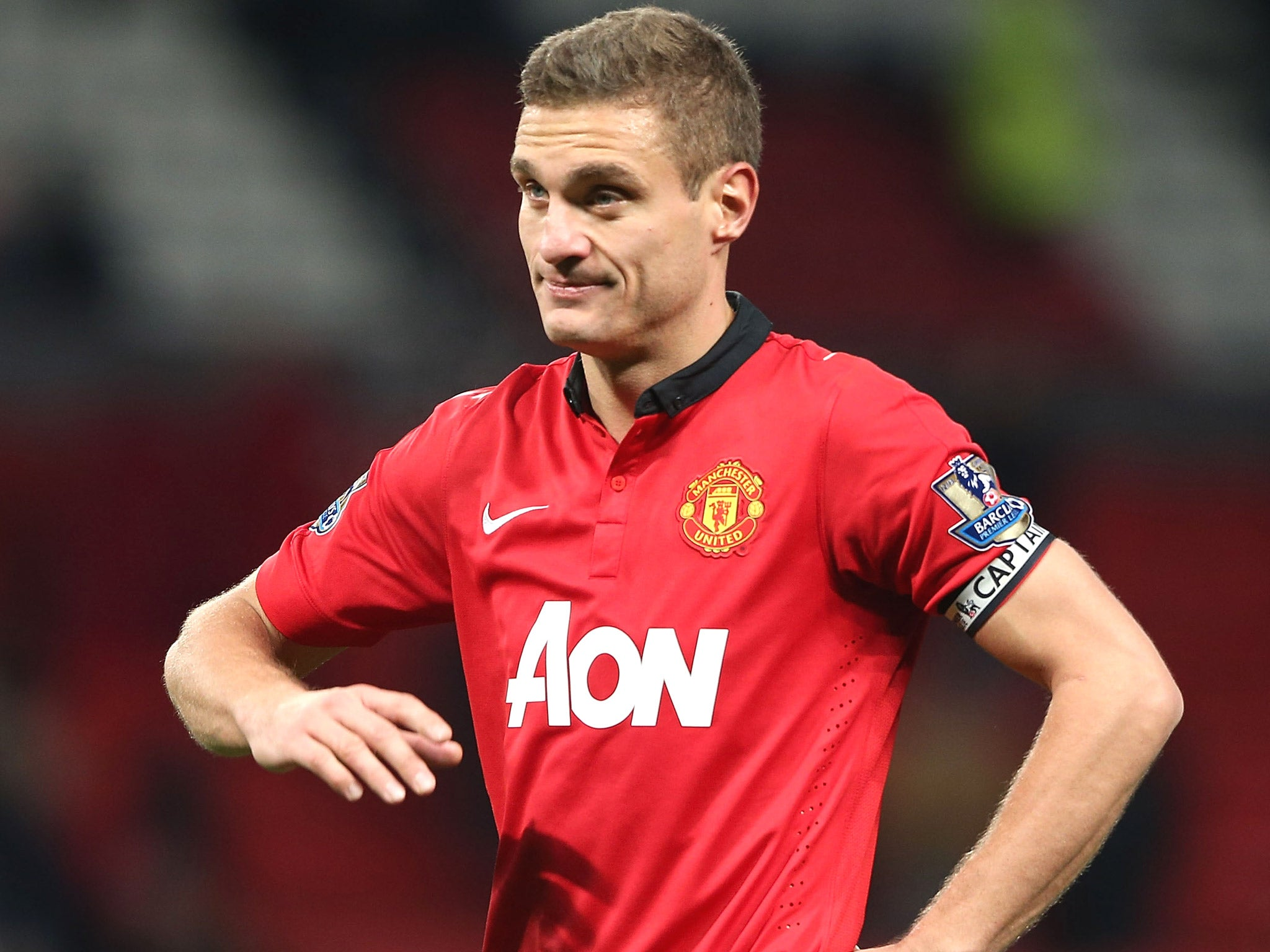Stoke City v Manchester United Nemanja Vidic must fight for place