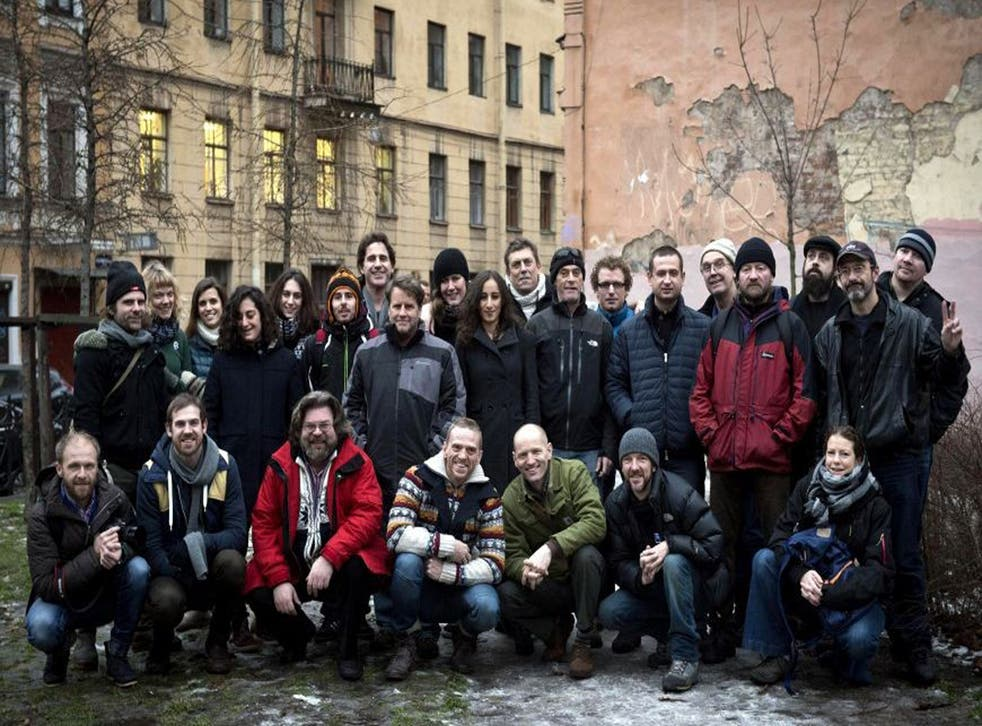 26 members of the so-called 'Arctic 30' pictured at the beginning of December