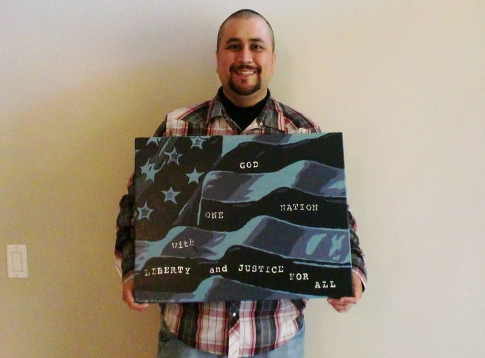 George Zimmerman has listed his first original painting on eBay for auction