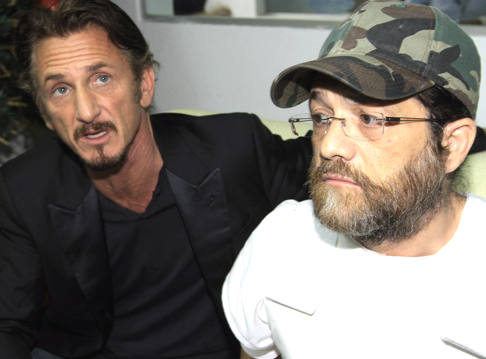 Jacob Ostreicher, right, with Sean Penn last year