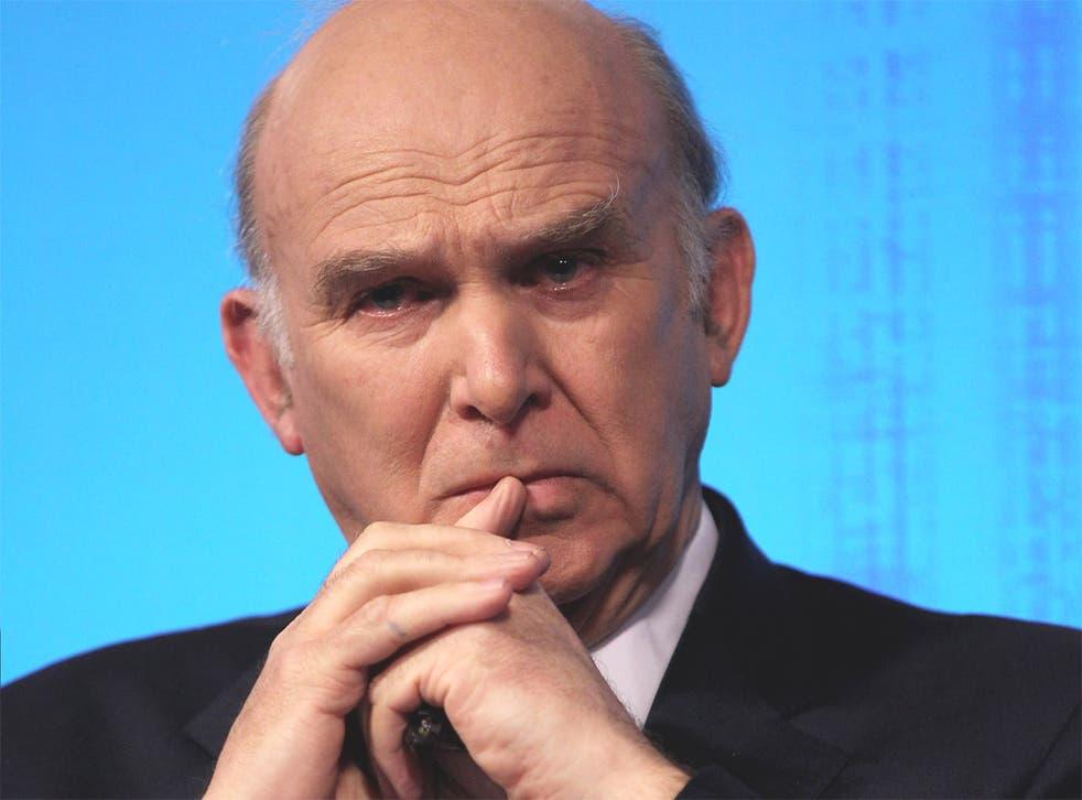 Vince Cable, the Liberal Democrat Business Secretary