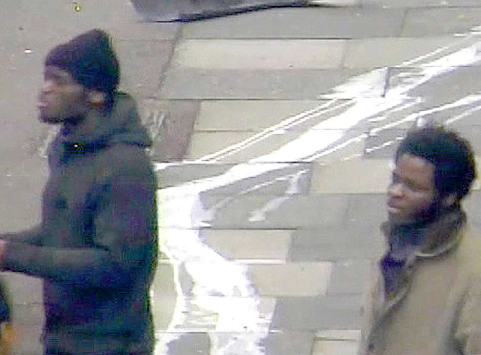 CCTV from 22 May of Michael Adebolajo and Michael Adebowale