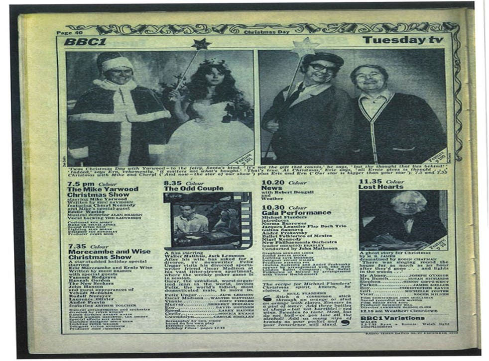 Top viewing:Christmas Day 1973 in the 'Radio Times'