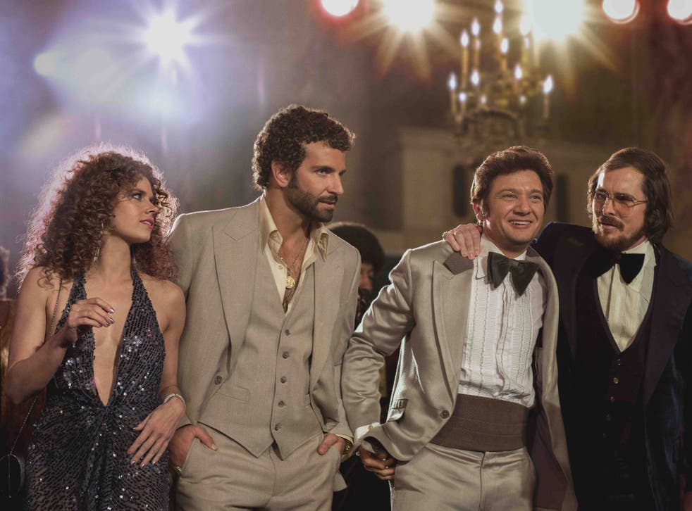 The fake team: Amy Adams, Bradley Cooper, Jeremy Renner and Christian Bale in American Hustle