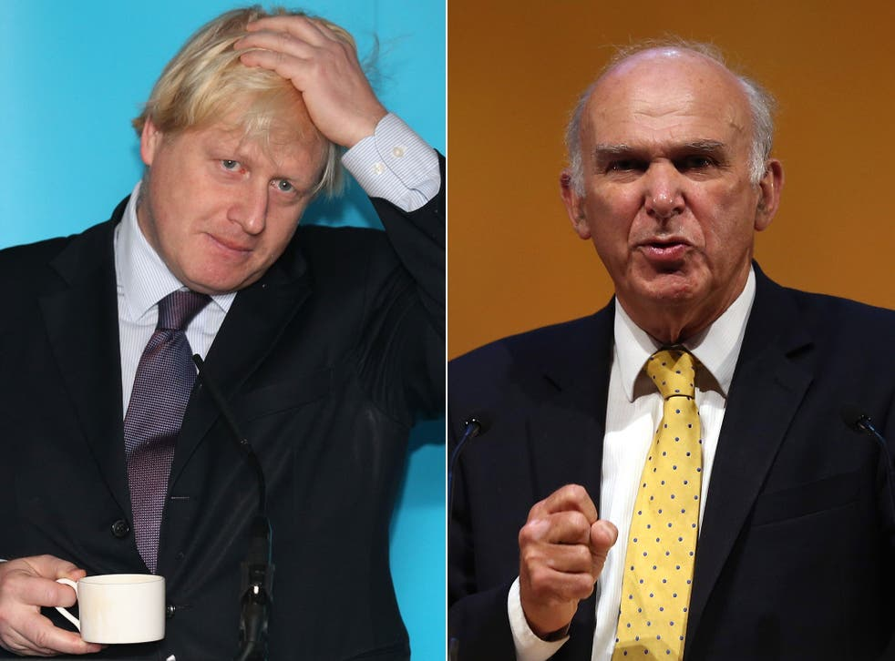 Boris Johnson dismissed Vince Cable's remarks as 'rubbish'