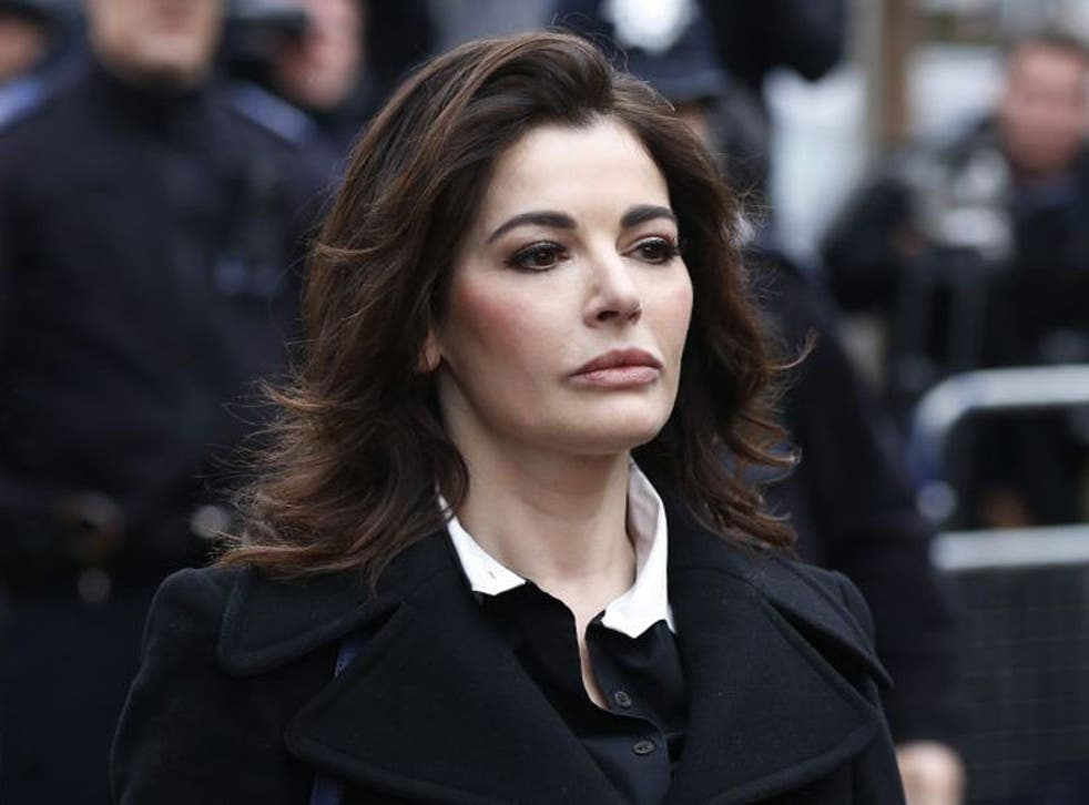 Nigella Lawson, arrives at Isleworth Crown Court in London. Two former assistants to Nigella Lawson and her former husband were acquitted of fraud, capping a case where allegations of unauthorized spending on lavish goods were often overshadowed by titill