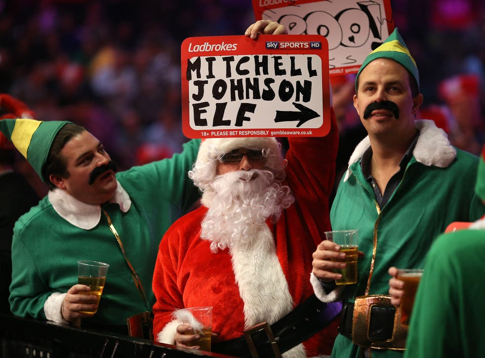 Fans at the World Darts Championship keep themselves entertained with the various fancy dress seen each night