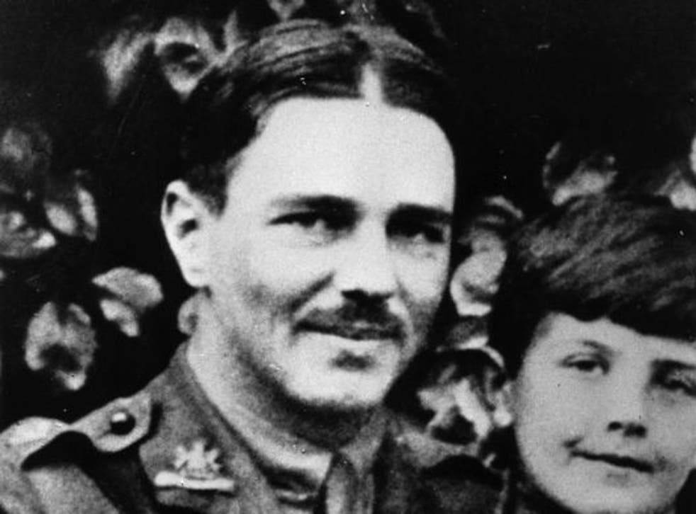 Wilfrid Owen with a young friend in 1917