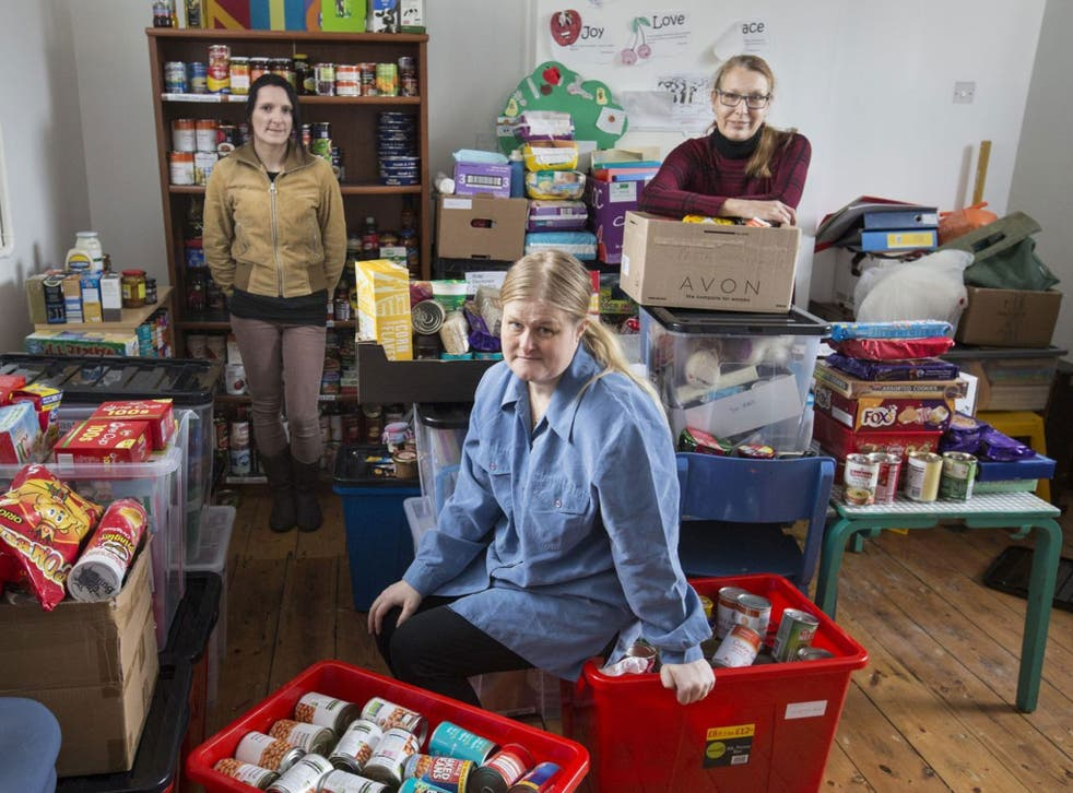 Mouths to feed: Jo Cypher at the Oxfordshire West Food Bank