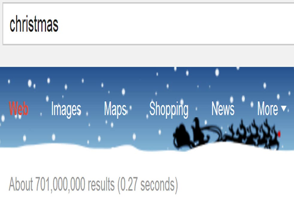 Google is marking Christmas on its page