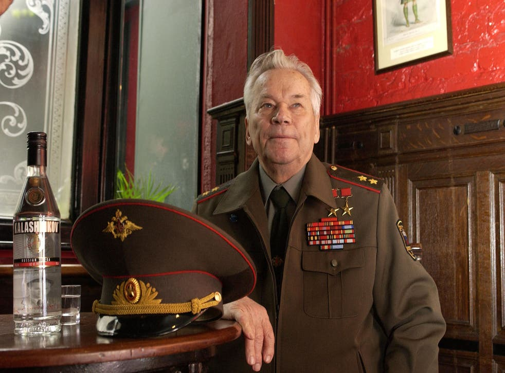 With his stocky frame, and his general's uniform smothered with medals, Mikhail Kalashnikov looked the quintessential Soviet military veteran