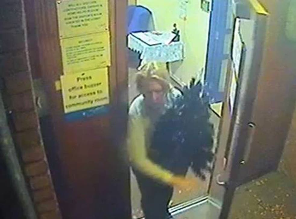 A woman allegedly leaves a care home with a Christmas tree in Camberwell.