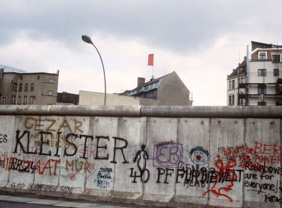 The Berlin Wall was built along the border between the German Democratic Republic (GDR) and the Federal Republic of Germany