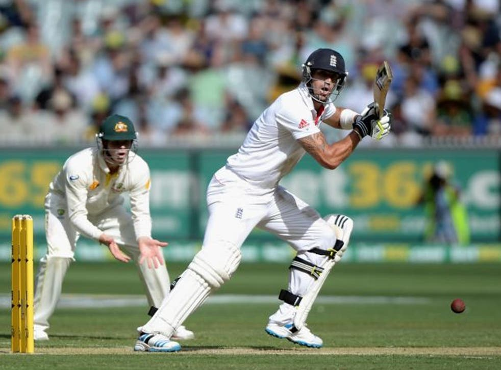 Kevin Pietersen of England bats during day one of the Fourth Ashes Test Match between Australia and England at Melbourne Cricket Ground on 26 December 2013