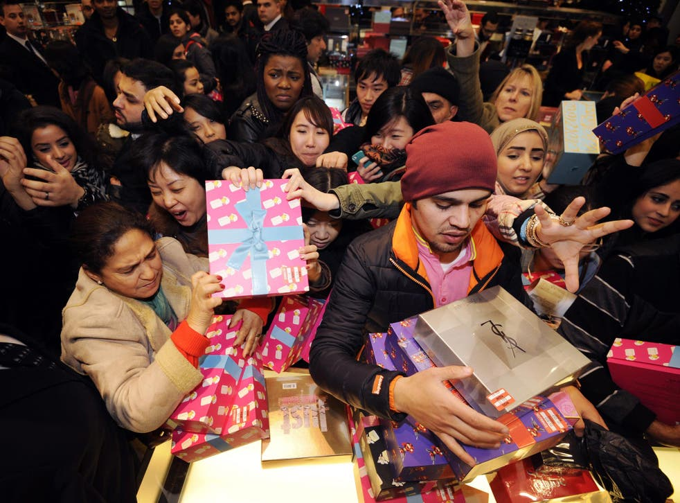 A mad scramble by bargain hunters in one of the capital's biggest